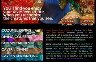 Manta Divers Website