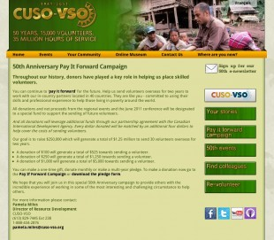 CUSO-VSO 50th Anniversary Website